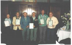 Photo : Tramway RSL Club Leo Stack, Alan Brown, Col. Dumke, Jim Rowe & Geoff Lendon